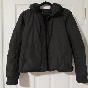 Elie Tahari Black Jacket with Hidden Hood